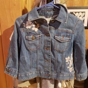 Loft NWOT cropped denim jacket